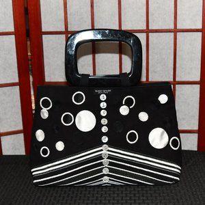 Kate Spade Small Black & White Canvas Handbag